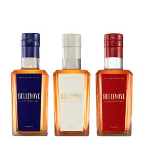 prémiové francúzske whisky Bellevoye Bleu Bellevoye Blanc Sauternes a Bellevoye Rouge Grand