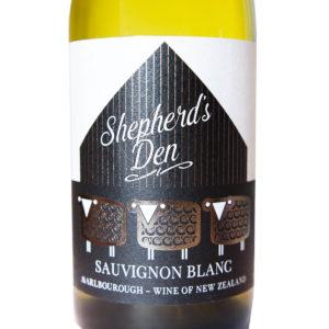nový zéland Shepherds Den Sauvignon Blanc etiketa