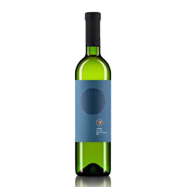 Karpatska Perla 4 zivly biele vino modra etiketa