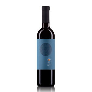 Karpatska Perla 4 zivly cervene vino modra etiketa