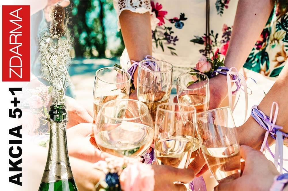 Akcia na viac kusov 5+1 na champagne sampanske a prosecco
