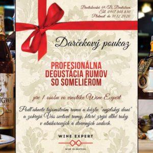 Darčekový poukaz Ochutnávka rumov 2