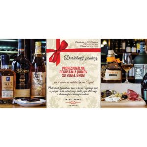 Darčekový poukaz Ochutnávka rumov 3
