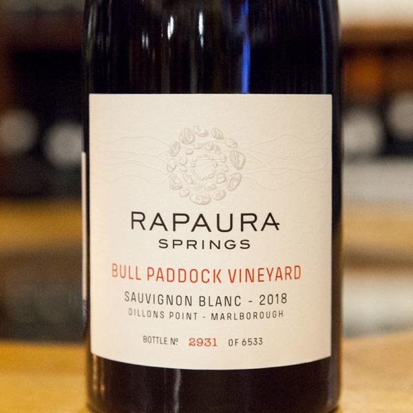 rapaura springs Sauvignon Blanc Bull Paddock Vineyard predna etiketa