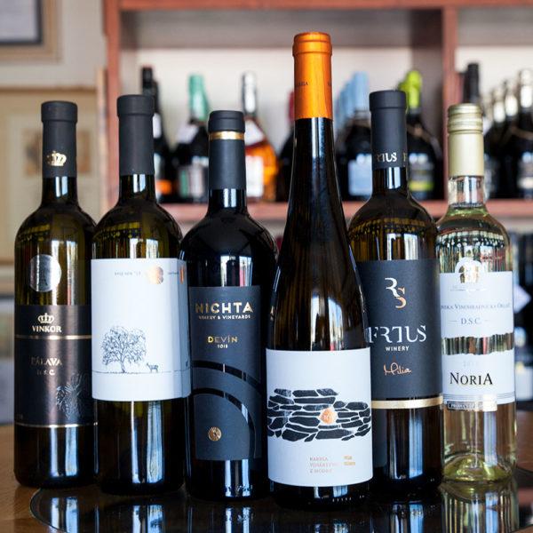 Balik slovenske vina biele