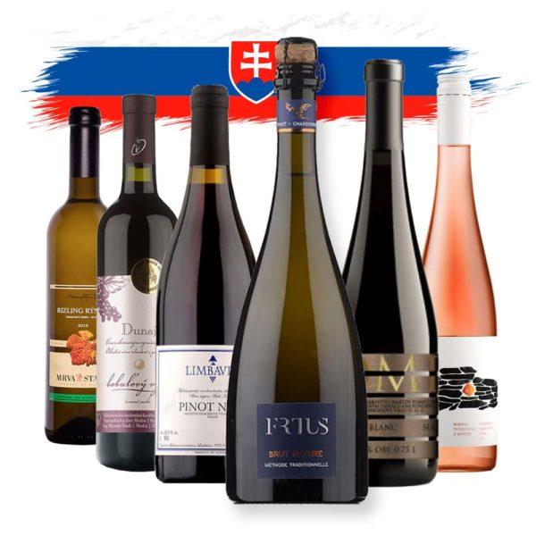 Balik slovenskych vin mix sekt, biele, ruzove, cervene akcia