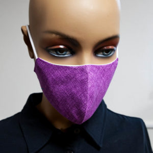 fialové ochranné rúško na tvár