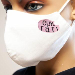 Ochranné antibakteriálne rúško s vyšívaným logom
