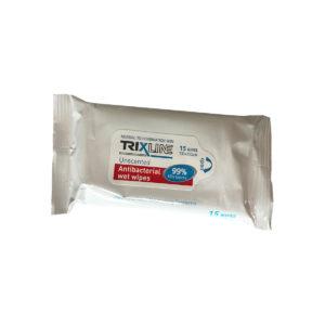 Trixline antibakteriálne vlhčené utierky 15 ks