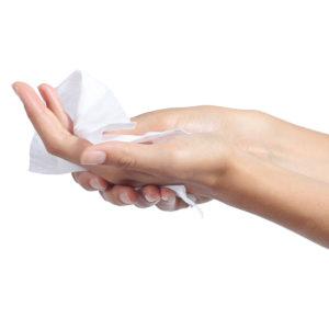 antibakteriálne vlhčené utierky 2