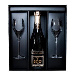 Duval-Leroy Champagne Classic Réserve Brut v darčekovom balení s 2 pohármi