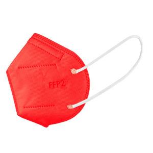 cerveny respirator ffp2 farebny