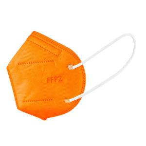 oranzovy respirator ffp2 farebny