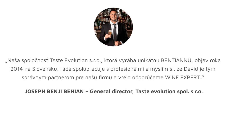 referencie co o nas hovoria Joseph Bentiana